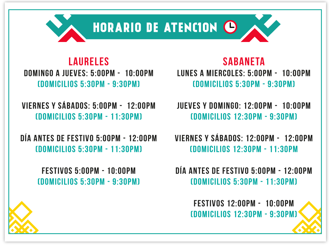 horario-de-atencion-chicks-alitas-sabaneta-laureles